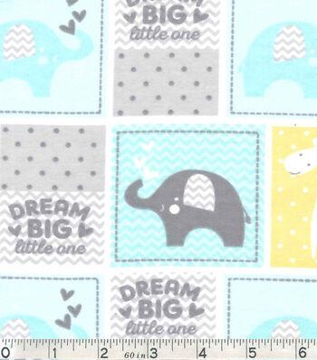 """Nursery Flannel Fabric 42""""-Dream Big Patch"""