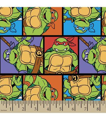 Nickelodeon Teenage Mutant Ninja Turtles Block Cotton Fabric