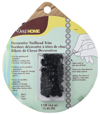Dritz Home 5yd Decorative Nail Trim-Black