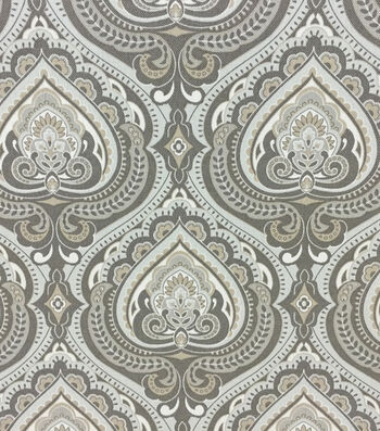 Outdoor Fabric-Palmette Gray
