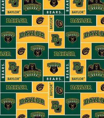 """Baylor University Bears Fleece Fabric 58""""-Block"""