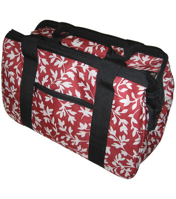 "JanetBasket Red Floral Eco Bag-18"" x 10"" x 12"""