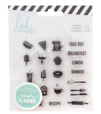 Heidi Swapp® Fresh Start Clear Stamps-Food