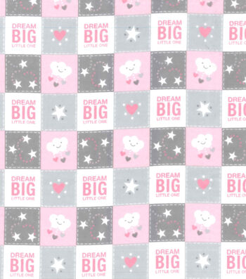 "Nursery Flannel Fabric 42""-Dream Big Patch"