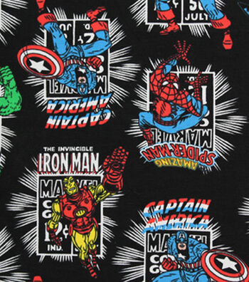 "Marvel Comics™ Knit Fabric 58""-Heroes"