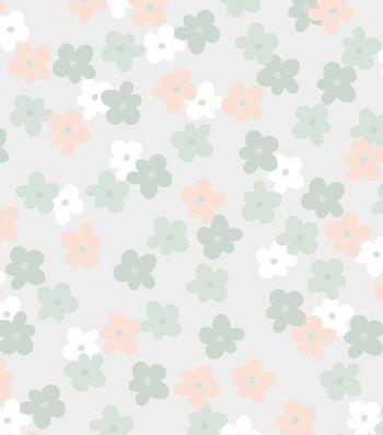 Nursery Bunny Flannel Fabric 42''-Floral