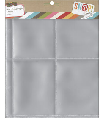 "Sn@p! Pocket Pages For 6""X8"" Binders-(4) 3""X4"" Pockets"