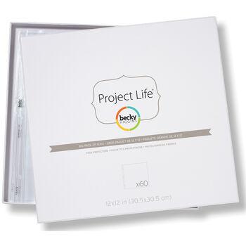"Project Life Page Protectors 12""X12"" 60/Pkg"