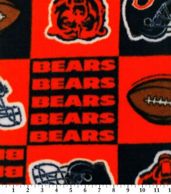 Chicago Bears Fleece Fabric 58''-Block