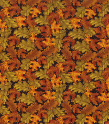 """Autumn Inspirations™ Cotton Fabric 43""""-Tossed Leaves"""