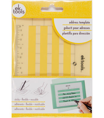 EK Tools Sticky Envelope Address Template