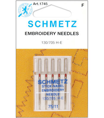 Schmetz Embroidery Machine Needles 5pcs-Size 75/11