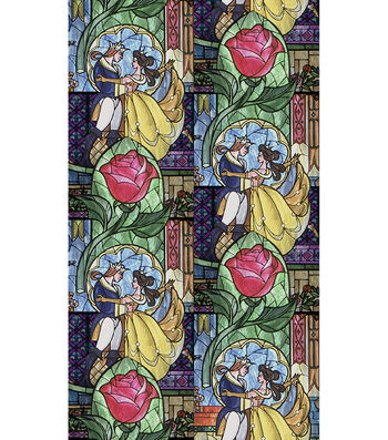 "Disney® Cotton Fabric 43""-Beauty & The Beast"