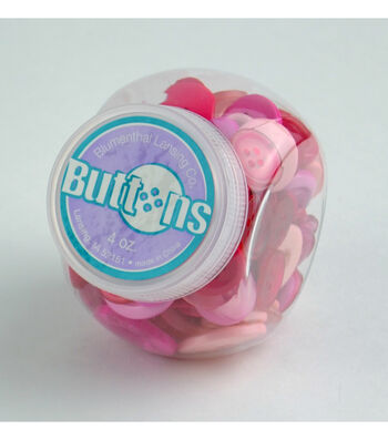 Jar O Buttons-Pink