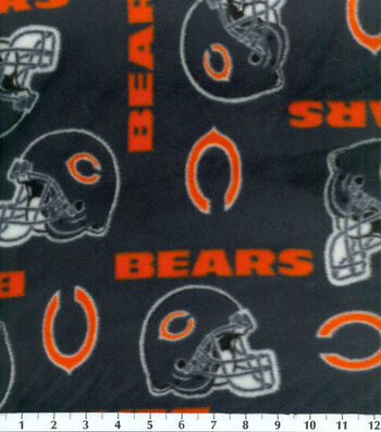 Chicago Bears Fleece Fabric 58''-Tossed