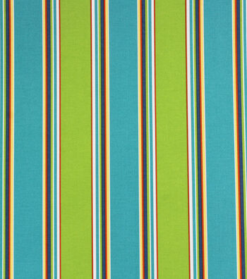Solarium® Outdoor Fabric 54''-Blue & Green Stripes