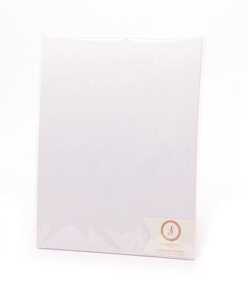 Ms. Sparkle & Co. Pack of 12 8.5''x11'' Shimmer Papers-White