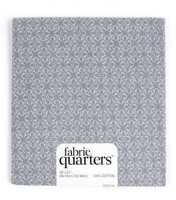 "Fabric Quarters Cotton Fabric 18""-Assorted Gray"