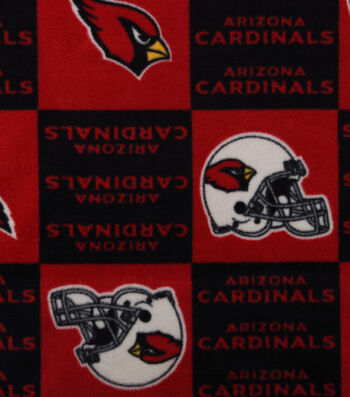 Arizona Cardinals Fleece Fabric 58''-Block