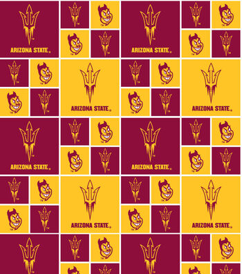 "Arizona State University Sun Devils Cotton Fabric 43""-Block"