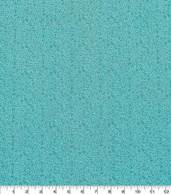 "Keepsake Calico™ Cotton Fabric 43""-Aqua Vine"