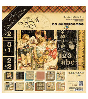 """Graphic 45 Deluxe Collector's Edition Pack 12""""X12""""-ABC Primer"""