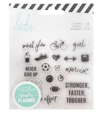 Heidi Swapp® Fresh Start Clear Stamps-Exercise