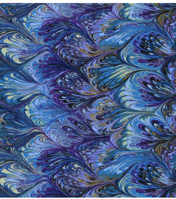 """Premium Cotton Fabric 44""""-Oil Slick Rainbow"""