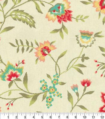 "Waverly Upholstery Fabric 54""-Carolina Crewel Bloom"