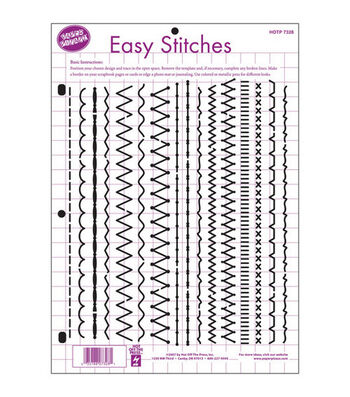"""Hot Off The Press 8-1/2""""x11"""" Templates-Easy Stitches"""
