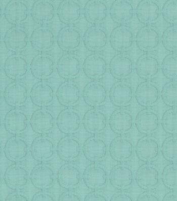 """Waverly Upholstery Fabric 57""""-Full Circle Turquoise"""