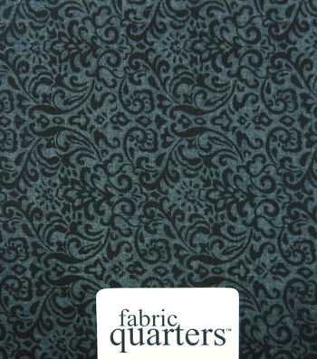 Fabric-Quarters Cotton Fabric-Assorted Black