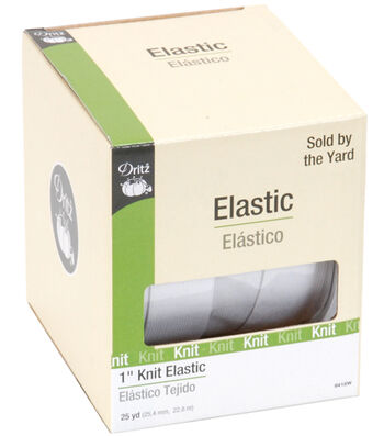 "Dritz Knit Elastic 1""X25yd-White"