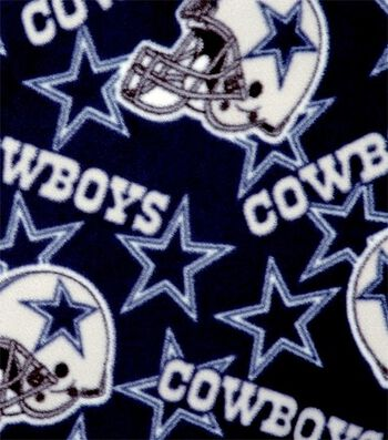 Dallas Cowboys Fleece Fabric 58''-Tossed