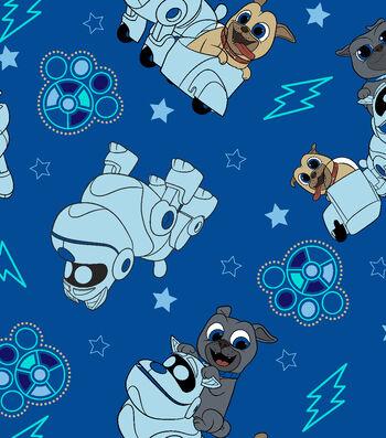 Disney Puppy Dog Pals Fleece Fabric 59''-Adventure