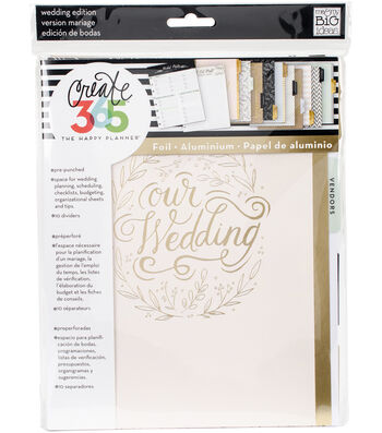 Create 365 Happy Planner Extension Pack-Wedding