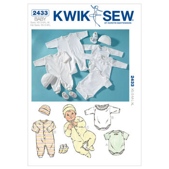 Kwik Sew Pattern K2433 Infants' Romper & Jumpsuits-Size XS-XL