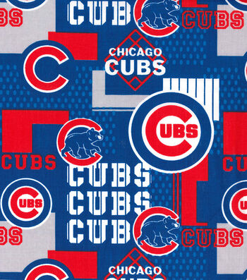 "Chicago Cubs Cotton Fabric 58""-Patch"