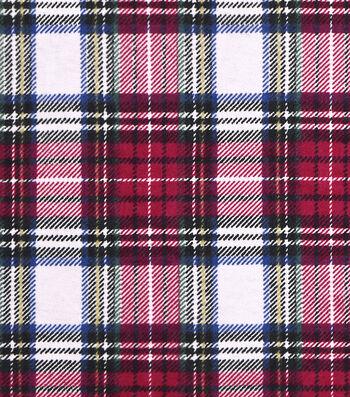 Snuggle Flannel Fabric 43''-Traditional Tartan Plaid