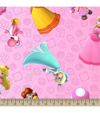 Nintendo® Mario Print Fabric-Super Mario Brothers™ Princess