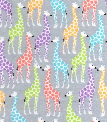 "Snuggle Flannel Fabric 42""-Giraffes"
