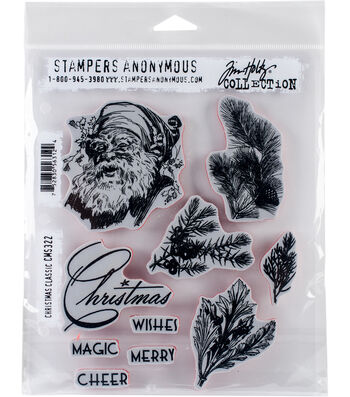 Stampers Anonymous® Tim Holtz® Cling Stamps-Christmas Classic