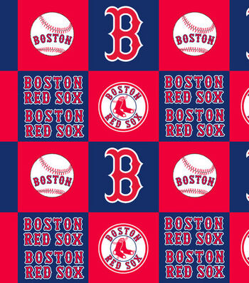 Boston Red Sox Fleece Fabric 58''-Block