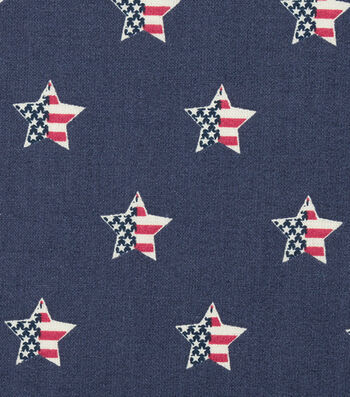 "Patriotic Cotton Fabric 44""-Flag In Star"