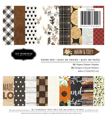 Jen Hadfield Pack of 36 6''x6'' Warm & Cozy Paper Pad
