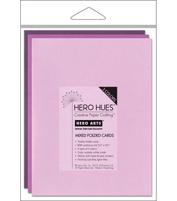 """Hero Arts 5-1/2""""x4-1/4"""" Folded Cards-12PK/Floral Mix"""