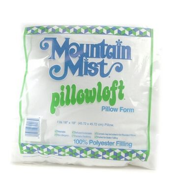"Mountain Mist Pillowloft Woven Cover Pillow Form 18""x 18"""