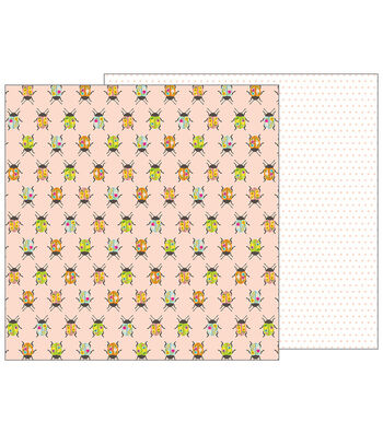 Pebbles Jen Hadfield Patio Party Double-Sided Cardstock-Painted Beetles