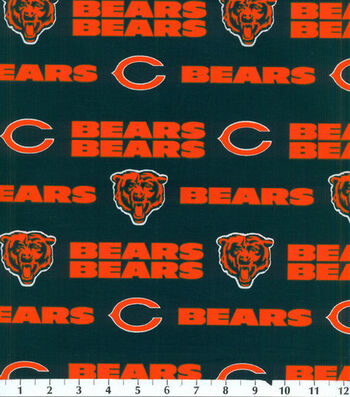 Chicago Bears Cotton Fabric 58''-Mascot Logo