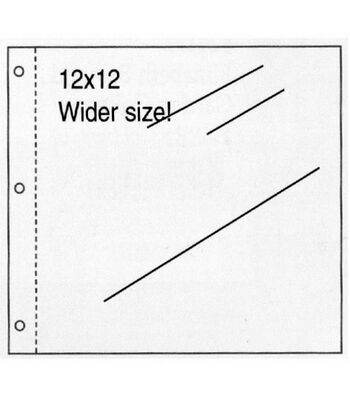 """K&Company Postbound Scrapbook Page Protectors 12""""x12""""-Clear 10/PK"""